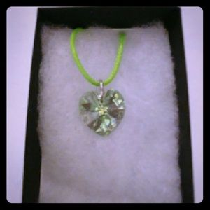 Jewelry - Spring Green Crystal Heart Necklace